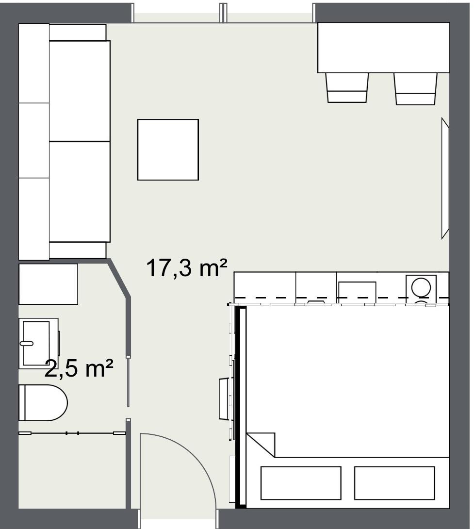 loft stan mikrostan visoki strop