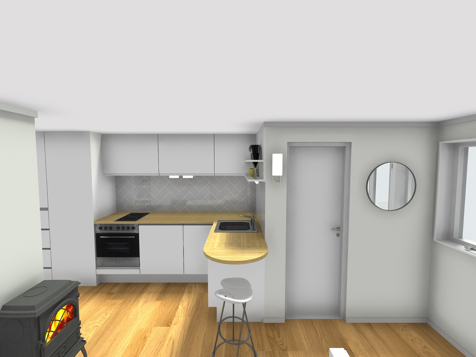 kuhinja stan 25 m2 mikrostan