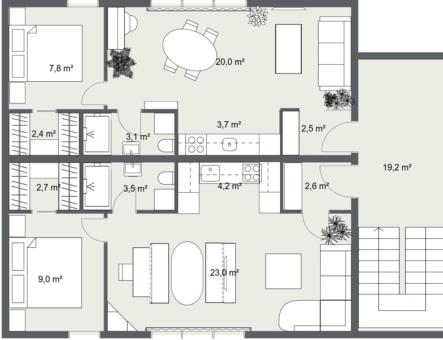 novogradnja, stanovi 40 m2 i 45 m2